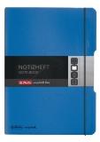 Caiet My.book Flex A4 2x40 file dictando+patratele albastru inchis  Herlitz
