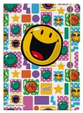 Caiet My.book Flex A4 2x40 file dictando+patratele Smiley rock Herlitz