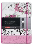 Caiet My.book Flex A5 2x40f dictando+patratele Lady like flori Herlitz