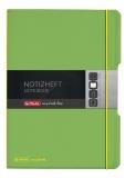 Caiet My.book Flex A6 40f patratele verde transparent Herlitz