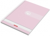 Caiet cu spira A4, 70 file, 70g/mp, dictando Rainbow Herlitz