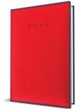 Agenda Herlitz A5 datata zilnic Premium DeLuxe Vienna rosu 2020