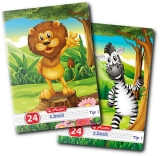 Caiet A5, 24 file, 80g/mp, Tip I, Cute Animals Premium Herlitz