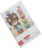 Caiet A5, 24 file, 80g/mp, Tip II, Cute Animals Premium Herlitz