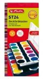 Acuarele 24 culori detasabile Herlitz