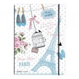 Caiet A4 My.Book Flex 2 x 40 file 70 gr dictando si patratele Vintage Paris Herlitz