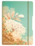 Caiet A5 My.Book Flex patratele 40 file coperta vintage Flowers cu elastic gri Herlitz