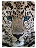 Caiet A5 My.Book Flex patratele 40 file coperta Leopard cu elastic negru Herlitz