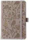 Caiet cu elastic Ivory Nature 9 x 14 cm, 192 file, veline, diverse modele Herlitz