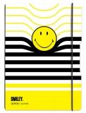 Caiet A4 My.Book Flex 2x40 file dictando+patratele coperta Smiley black&yellow stripes Herlitz