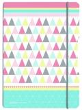Caiet A4 My.Book Flex 2x40 file dictando+patratele coperta PP graphic pastels mix Herlitz