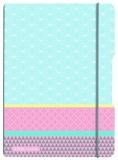 Caiet A4 My.Book Flex 2x40 file dictando+patratele coperta PP graphic pastels blue Herlitz