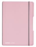 Caiet A5 My.Book Flex patratele 40 file coperta roz transparenta Herlitz