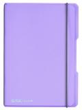 Caiet A5 My.Book Flex patratele 40 file coperta mov transparenta Herlitz