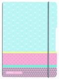 Caiet A5 My.Book Flex patratele 40 file coperta PP graphic pastels blue Herlitz