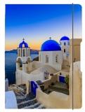 Caiet A5 My.Book Flex patratele 40 file coperta Santorini cu elastic albastru Herlitz