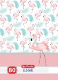 Set 5 Caiete A4 80 file dictando Flamingo Herlitz