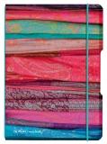 Caiet A5 My.Book Flex patratele coperta PP scarfs cu elastic turcoaz Herlitz