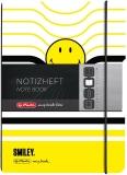 Caiet A5 My.Book Flex patratele 40 file coperta PP Smiley Wolrd B&Y Stripes Herlitz