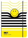 Caiet A5 My.Book Flex patratele 40 file coperta PP Smiley Wolrd B&Y Stripes Herlitz