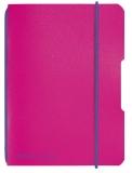 Caiet A6 My.Book Flex patratele 40 file fucsia cu elastic violet Herlitz