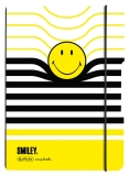 Caiet A5 My.Book Flex dictando 40 file coperta PP Smiley Wolrd B&Y Stripes Herlitz