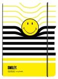Caiet A5 My.Book Flex dictando 40 file coperta PP Smiley Wolrd B&Y Stripes Herlitz