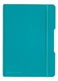 Caiet A5 My.Book Flex patratele 40 file coperta PP turcoaz cu logo turcoaz Herlitz