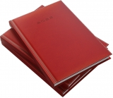 Agenda Herlitz, A5, zilnica, datata, DeLuxe rosu, 2022
