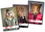 Caiet A4, 60 file, 70g/mp, dictando, Hipster Animals Herlitz