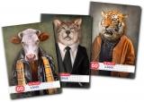 Caiet A4, 60 file, 70g/mp, matematica, Hipster Animals Herlitz