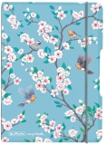 Caiet My.book Flex A5, 40 file, dictando, Ladylike Birds, elastic gri Herlitz