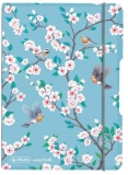 Caiet My.book Flex A6, 40 file, dictando, Ladylike Birds, elastic gri Herlitz
