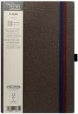 Bloc notes Ivory B-Band 13 x 21 cm, 240 pag, patratele, coperta PU, maro Herlitz