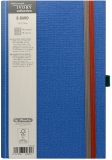 Caiet cu elastic Ivory B-Band 13 x 21 cm 240 pag, patratele, coperta PU, bleu Herlitz