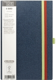 Caiet cu elastic Ivory B-Band 13 x 21 cm 240 pag, dictando, coperta PU, bleumarin Herlitz
