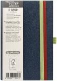 Caiet cu elastic Ivory B-Band 9 x 14 cm 192 pag, dictando, coperta PU, bleumarin Herlitz