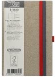 Caiet cu elastic Ivory B-Band 9 x 14 cm 192 pag, velin, coperta PU, bej Herlitz
