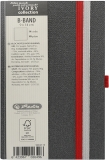 Caiet cu elastic Ivory B-Band 9 x 14 cm 192 pag, velin, coperta PU, gri Herlitz
