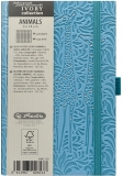 Bloc notes Ivory Animals 9 x 14 cm 192 pag, patratele, coperta PU, bleu, Giraffe Herlitz
