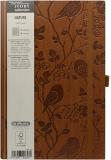 Bloc notes Ivory Nature 13 x 21 cm 240 pag, patratele, coperta PU, maro, Robin Herlitz