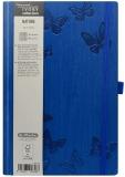 Bloc notes Ivory Nature 13 x 21 cm 240 pag, patratele, coperta PU, bleu, Butterfly Herlitz