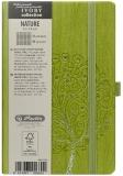 Bloc notes Ivory Nature 9 x 14 cm 192 pag, patratele, coperta PU, verde, Tree Herlitz