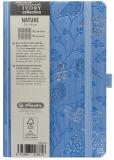Bloc notes Ivory Nature 9 x 14 cm 192 pag, patratele, coperta PU, bleu, Robin Herlitz