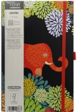 Bloc notes Ivory Graphic 13 x 21 cm 240 pag, patratele, Animal Graphic Herlitz