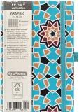 Bloc notes Ivory Graphic 9 x 14 cm 192 pag, patratele, Mosaic Herlitz