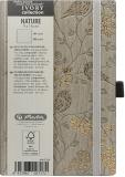 Bloc notes Ivory Nature 9 x 14 cm 192 pag, velin, coperta PU, crem, Robin Herlitz