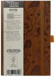 Bloc notes Ivory Nature 9 x 14 cm 192 pag, patratele, coperta PU, maro, Robin Herlitz