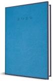 Agenda Herlitz A5 datata zilnic Premium DeLuxe Vienna albastru 2020