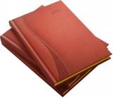 Agenda Herlitz, A5, datata, Premium DeLuxe Delta, rosu, 2022